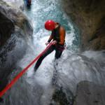 Het neusje van de outdoorsports Canyoning